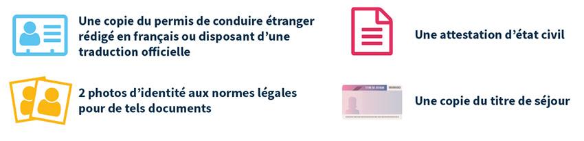 Documents à fournir pour l'échange de permis
